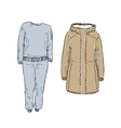 Set of warm Clothes vector image