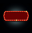 shining retro banner frame with glowing lights vector image