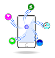 Smart phone touchscreen application and mobile vector image vector image