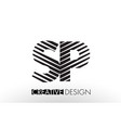 sp s p lines letter design with creative elegant vector image vector image