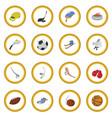 sport cartoon icon circle vector image