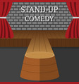 stand-up comedy interior theater scene vector image
