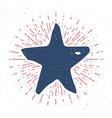 star symbol vintage label grunge textured retro vector image vector image