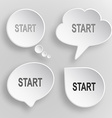 Start White flat buttons on gray background vector image