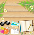 Summer background on wooden Plank Texture vector image vector image