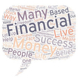 The Biggest Obstacles To Financial Success text vector image vector image