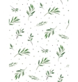 The pattern for the fabric with plants vector image