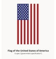 USA Flag or American flag in correct proportion vector image vector image