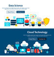 website data science banners vector image vector image