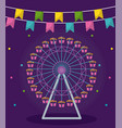 wheel panoramic of amusement park vector image vector image