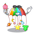 with ice cream cartoon hanging toys with baby vector image