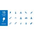 15 rocket icons vector image vector image