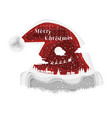 77 - christmas hat background vector image
