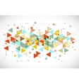 Abstract modern triangle background vector image vector image
