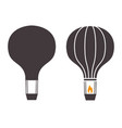 air balloons outline emblems vector image vector image