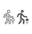 basketball player line and glyph icon sport and vector image