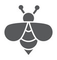 bee glyph icon animal and honey insect sign
