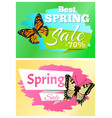 best spring sale 70 off stickers set butterflies vector image