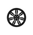 black disk wheel vector image