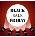 Black friday sale background projector spotlights vector image vector image