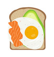breakfast with egg and toast vector image