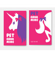 business cards templates of grooming service pet vector image
