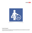 business man and progress icon - blue photo frame vector image