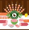 butcher shop different kinds vector image