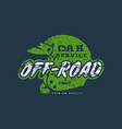 Car off road badge with shabby texture vector image vector image