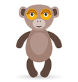 Cartoon of a monkey on a white background vector image vector image