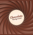 chocolate swirl background with place for your vector image vector image