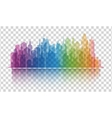 Cityscape colorful icon on transparent background vector image vector image