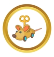 Clockwork mouse icon vector image vector image