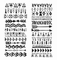 collection handdrawn borders in ethnic style vector image vector image