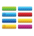 Colorful blank premium web buttons vector image vector image