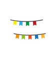 colorful garlands icon vector image vector image