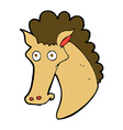 comic cartoon horse head vector image