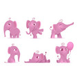 cute baelephants wild african funny adorable vector image