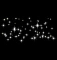dark background with white stars vector image vector image