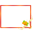 decorative halloween frame vector image vector image