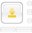 Download white button vector image vector image