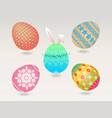 easter egg object vector image vector image
