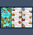 exotic fruits market sketch menu price vector image vector image