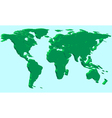 Extruded world map vector image vector image