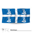 Flag of Martinique vector image vector image