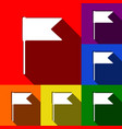 flag sign set of icons with vector image vector image