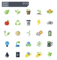 flat eco icons set vector image vector image