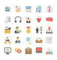 flat set of office and internet icons vector image vector image