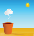 flowerpot part two vector image vector image