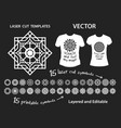 geometric symbols for laser cutting and printing vector image